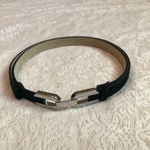 WHBM adjustable calf hair interlocking belt